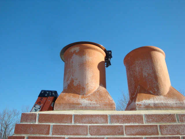 low profile chimney top cover
